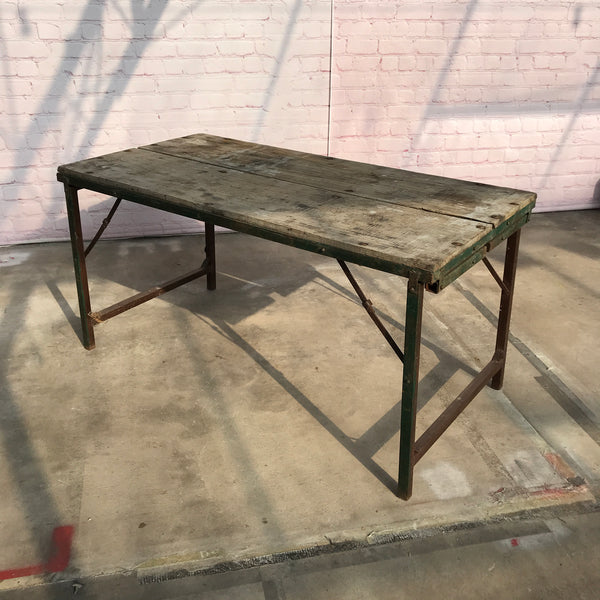 Vintage Indian military folding dining and coffee table