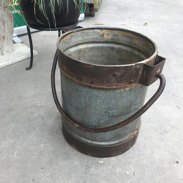 Rustic Indian Milk Churn/ Bucket