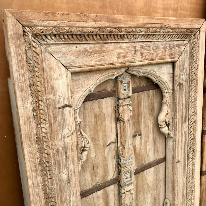 Antique Indian Shuttered Window Mihrab Frame (H171cm | W94cm)