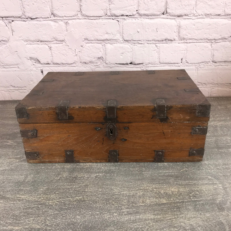 Decorative Indian teak box and ideal jewellery box