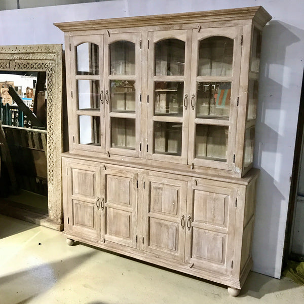 FARMHOUSE STYLE GLASS CUPBOARD CABINET (W183CM | H221CM)