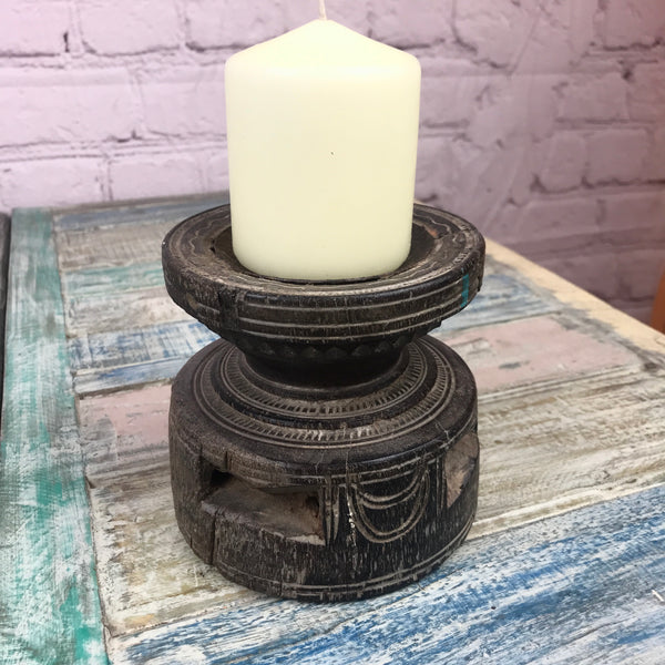 Upcycled Indian seeder candle holder | ø 13.5cm