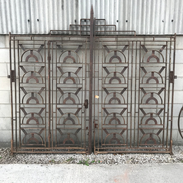 RECLAIMED WROUGHT IRON VINTAGE ART DECO STYLE GATES (H240CM | W260CM)