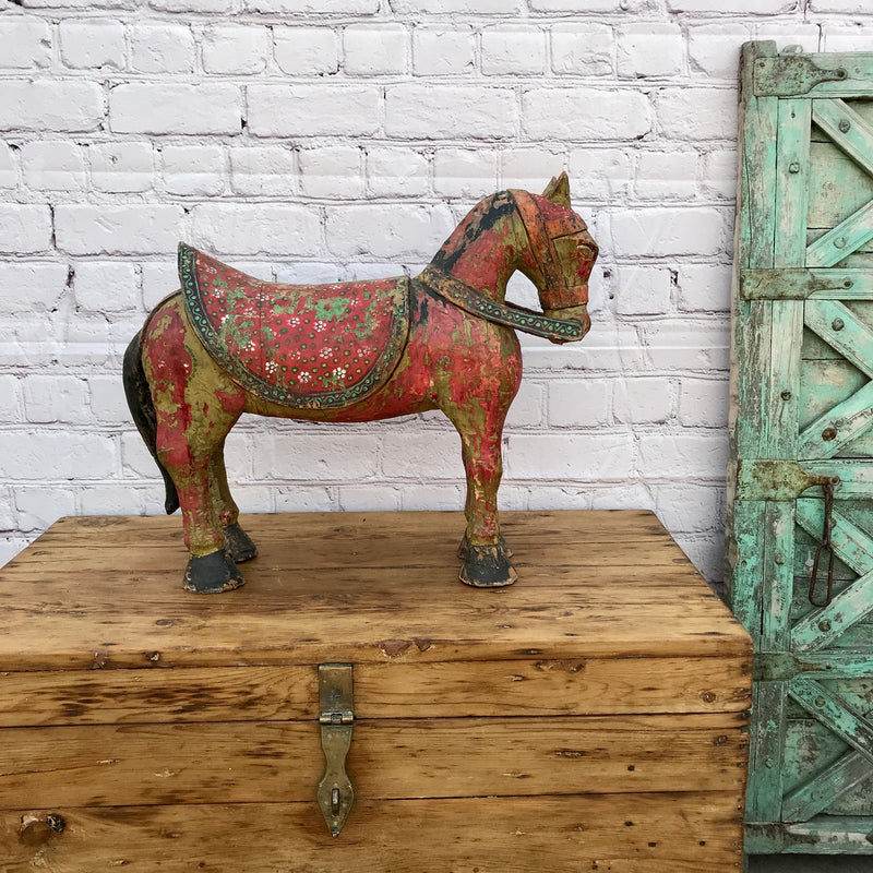 ANTIQUE HAND PAINTED HORSE