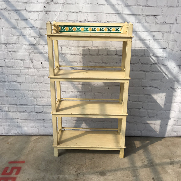 Anglo Indian painted wood shelving