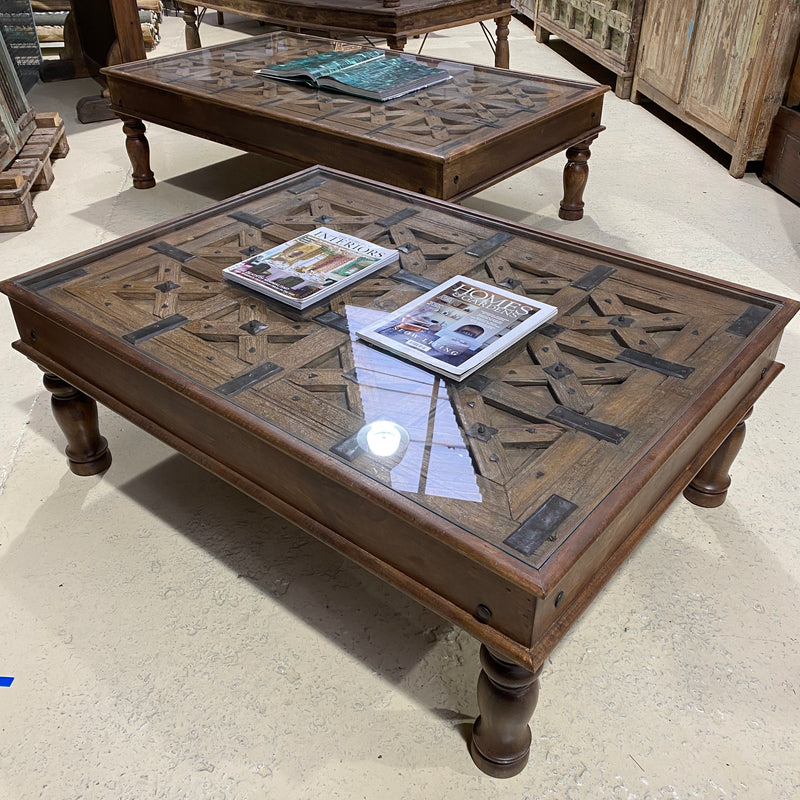 ANTIQUE INDIAN TRIBAL GATE COFFEE TABLE (L122CM | W89CM)