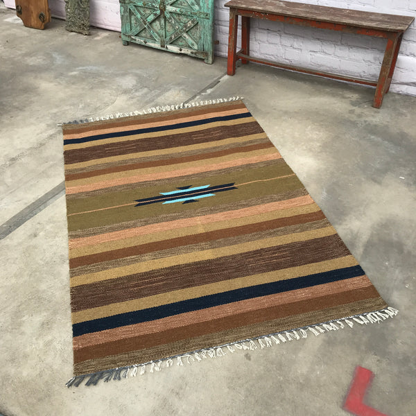 Hand crafted and dyed rug (180cm x 120cm)