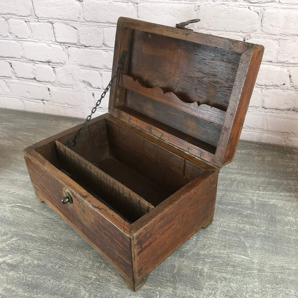 ANTIQUE INDIAN CHEST DESK BOX