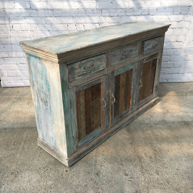 RECLAIMED INDIAN HARDWOOD SIDEBOARD | 3 DR (W152CM | H99CM)