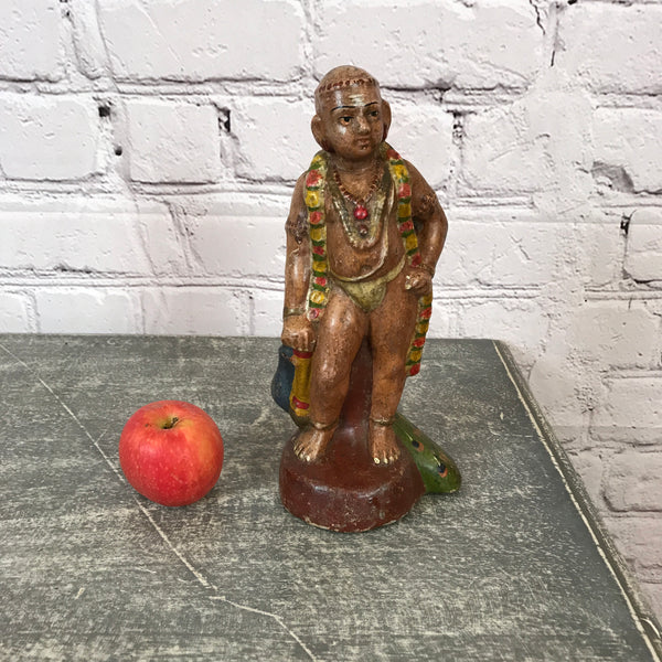 Vintage Indian hand painted terracotta toy/ figurine