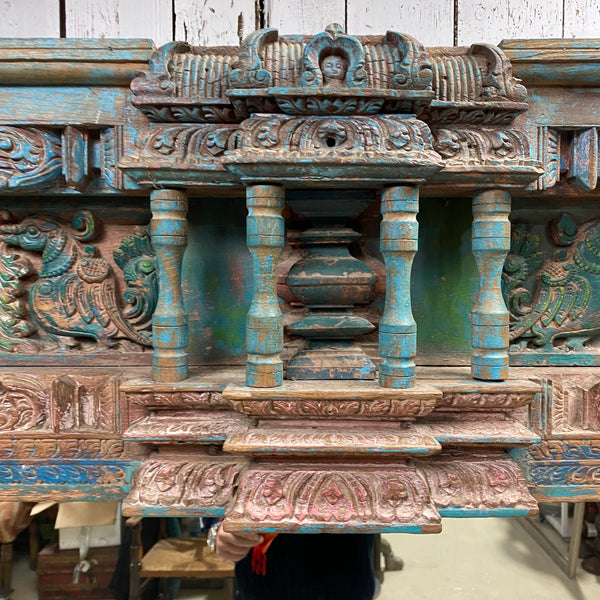 ANTIQUE INDIAN DOOR FRAME FREE STANDING MIRROR | H216CM W101CM