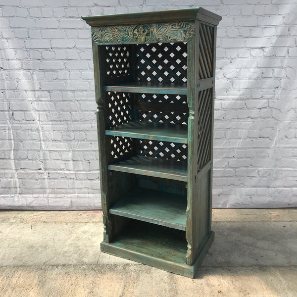 RECLAIMED INDIAN HAND CARVED BOOKCASE (H166CM | W75CM)