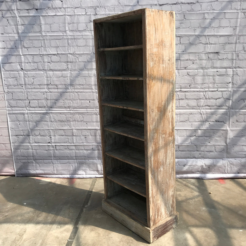 Reclaimed Indian teak wood bookcase shelving (H183CM | W68CM)