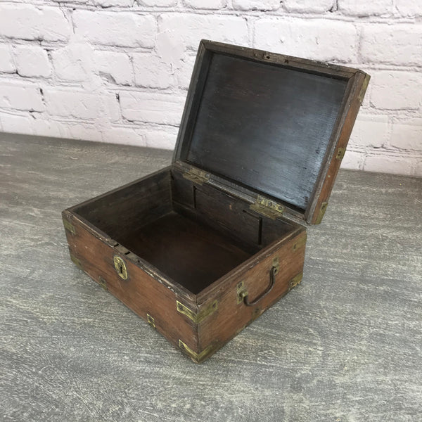 ANTIQUE INDIAN MERCHANTS BOX | DESK JEWELLERY BOX