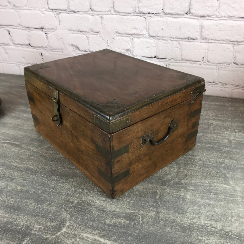 ANTIQUE ANGLO INDIAN DESK JEWELLERY BOX