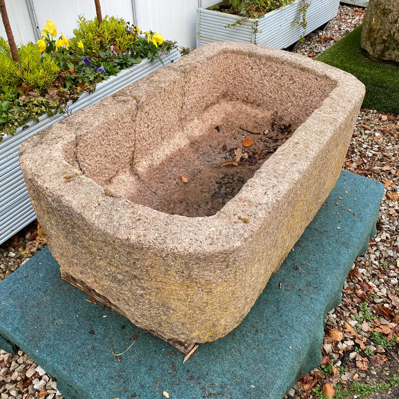 INDIAN PINK GRANITE TROUGH PLANTER (98CM)