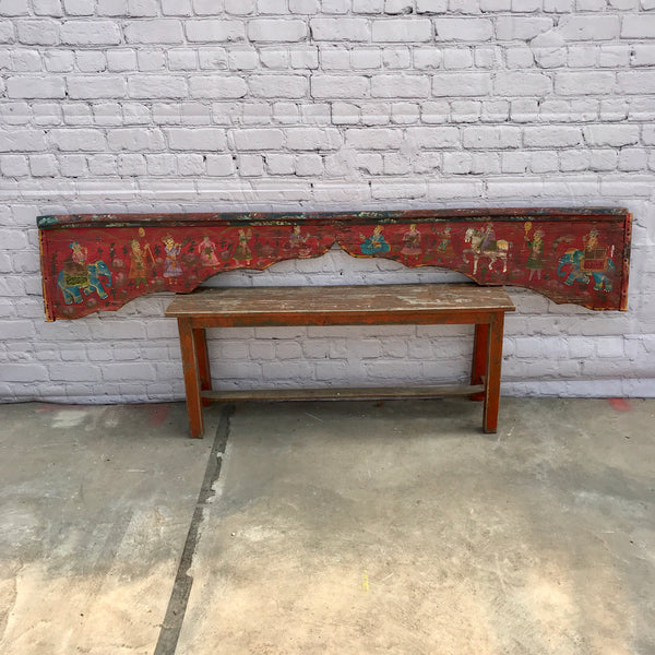 Indian hand painted architectural lintel