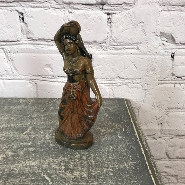 Vintage painted terracotta figurine