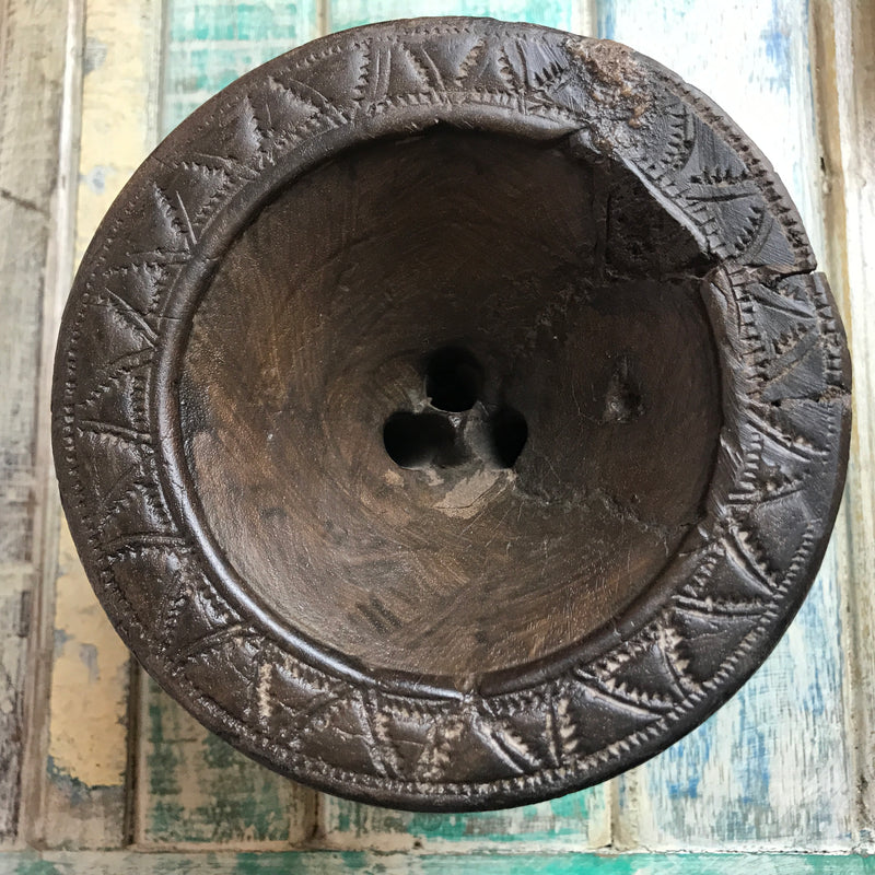Antique Indian seeder | ø 14cm