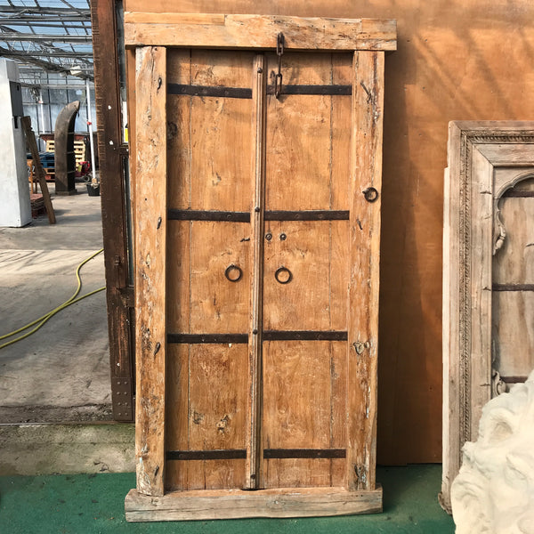 Antique Indian Door in frame (H210cm | W102cm)