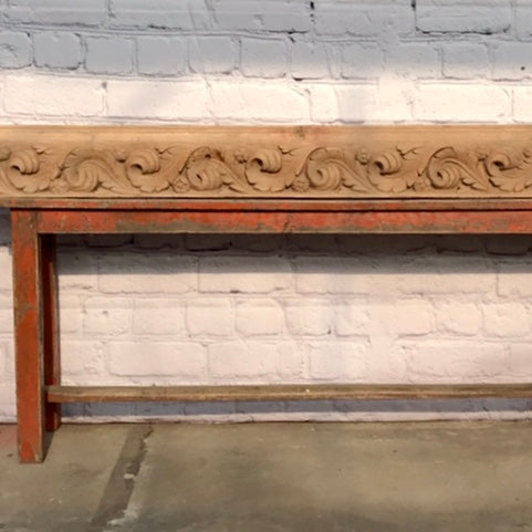 HAND CARVED ARCHITECTURAL PANEL (W225cm | H14cm)