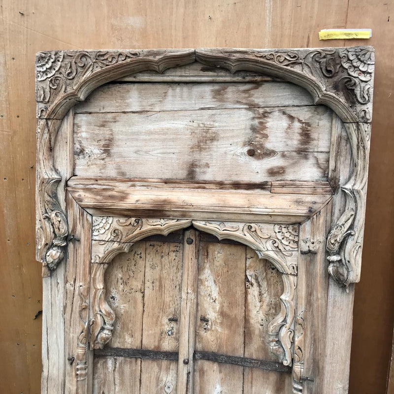 Antique Indian Shuttered Window Mihrab Frame (H208cm | W114cm)