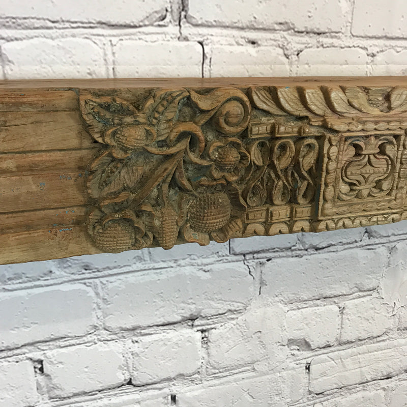 INDIAN CARVED ARCHITECTURAL PANEL