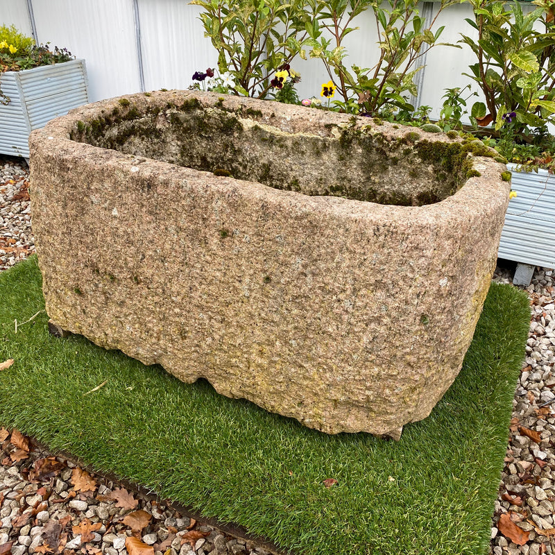 INDIAN PINK GRANITE TROUGH PLANTER (89CM)