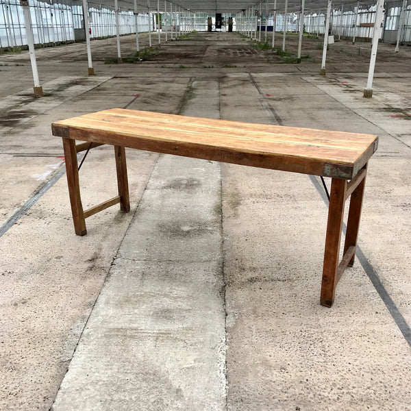 VINTAGE FOLDING TRESTLE TABLE FOR EVENTS (W183cm | H77cm)