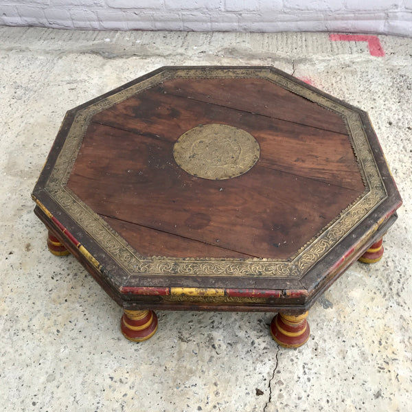 Antique Indian Bajot coffee table