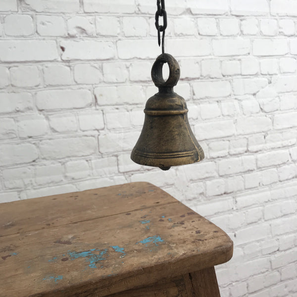 Vintage temple brass bell
