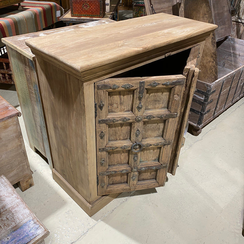 ANTIQUE INDIAN DOOR UPCYCLED CABINET (W110CM | H103CM)