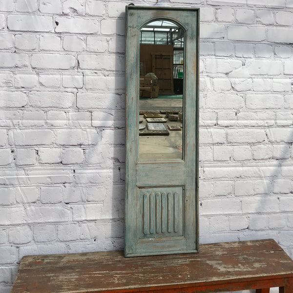 Upcycled vintage cupboard door mirror