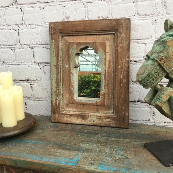 SMALL SHABBY CHIC MIHRAB ARCH MIRROR FRAME | 41555