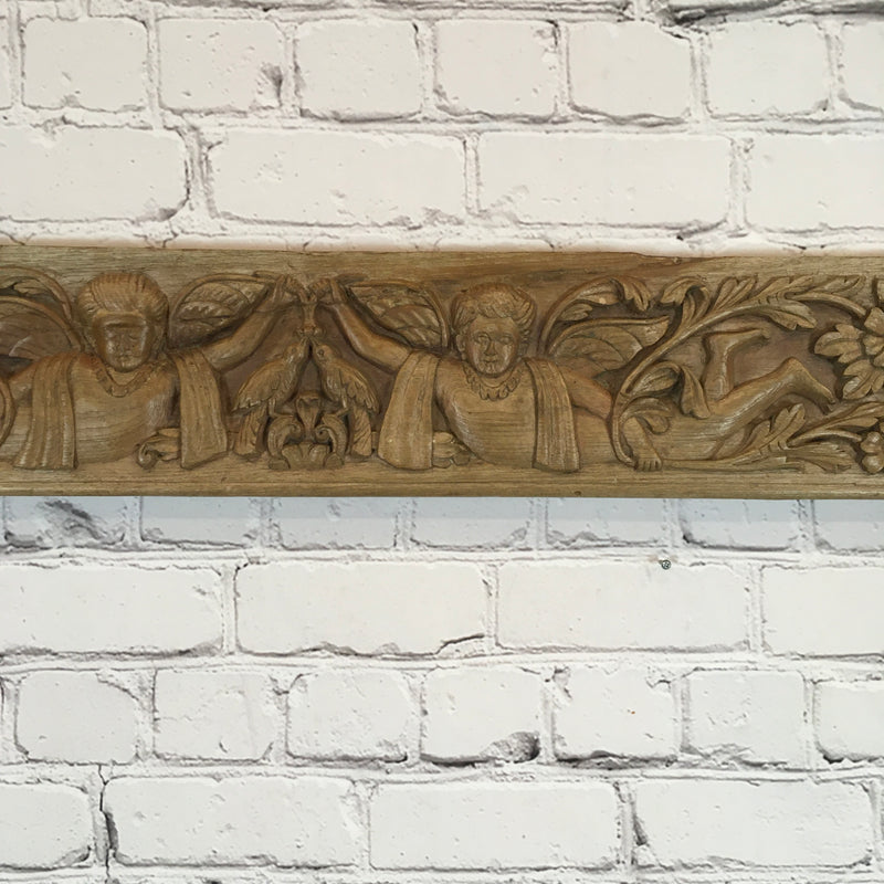 CARVED INDIAN ARCHITECTURAL PANEL