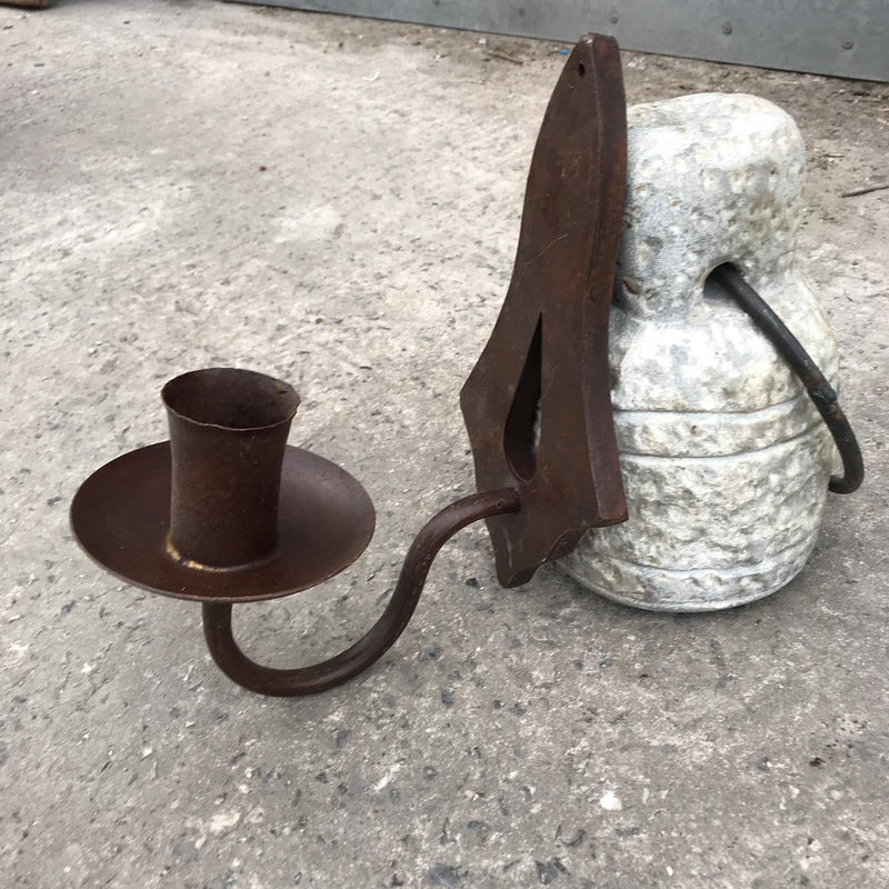 CAST IRON WALL CANDLE HOLDER (H28CM | W12CM)