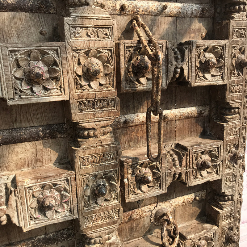 Antique Indian temple door (H187 | W100)