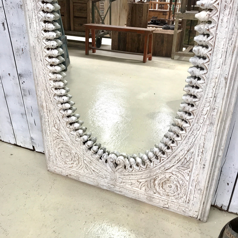 Hand Carved Indian Ornate Mirror (H164cm | W93cm)