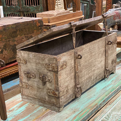 ANTIQUE INDIAN MERCHANT CHEST