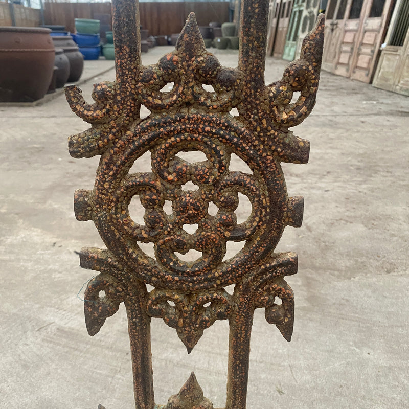 Antique Cast iron Balcony Grill Baluster on Plinth | H85cm 23.5cm