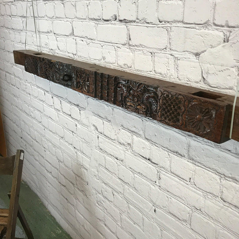 Antique carved architectural panel (W166cm| H14cm)