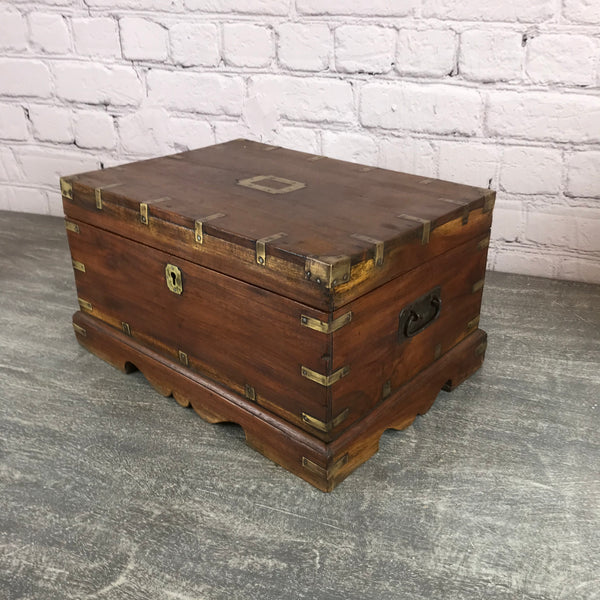 Antique Indian teak Jewellery box (W42cm | H24cm)