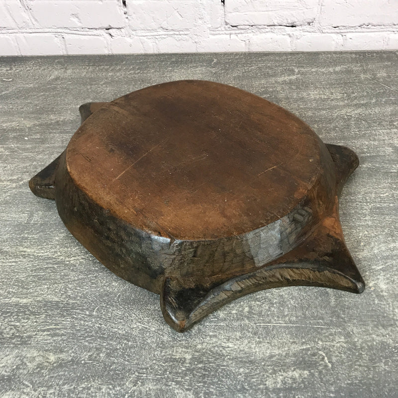 Vintage teak Indian hand carved bowl | ø41cm | 45683a