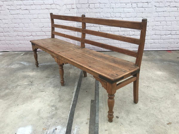 VINTAGE RUSTIC INDIAN BENCH (W181CM | H89.5CM)