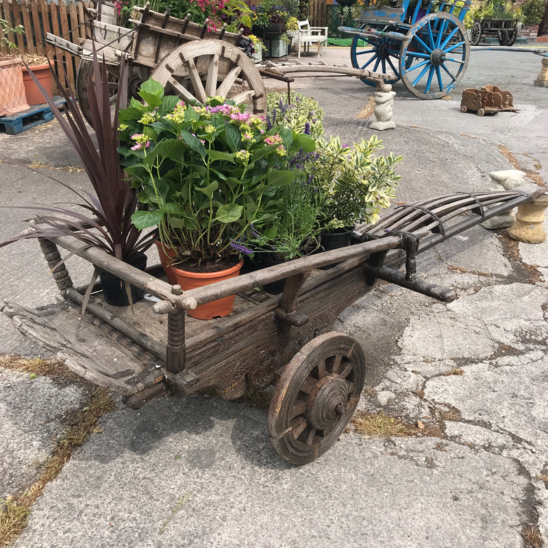 Antique Indian Cart decorative garden planter