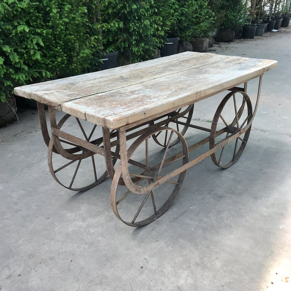 Vintage market stall cart | outdoor table