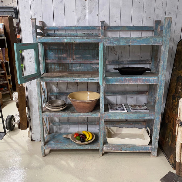 VINTAGE PAINTED KITCHEN SHELVING CABINET (H172CM | W152CM)
