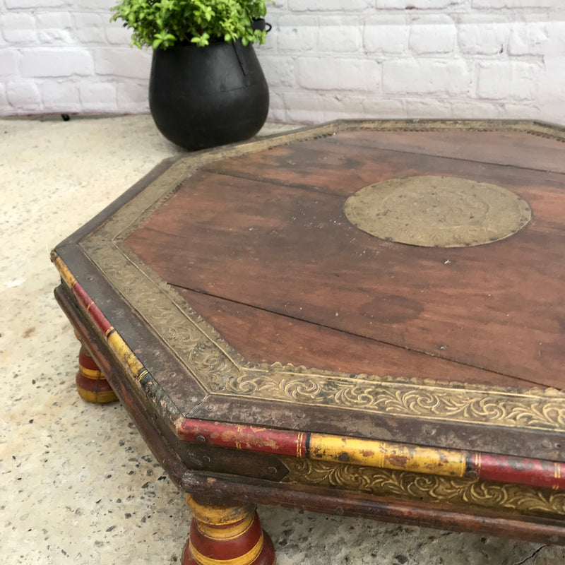 ANTIQUE 19TH INDIAN BAJOT COFFEE TABLE (W72CM | H17CM)