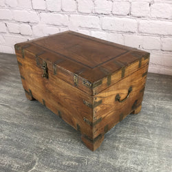 Impressive vintage teak table chest, ideal for jewellery and special items