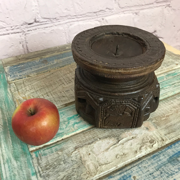 Upcycled Indian seeder candle holder | ø12.5cm